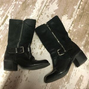 Franco Sarto Jelly Mid Calf Suede Leather Boots 7